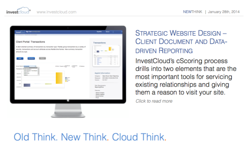 InvestCloud's Client Document and Data-driven Reporting