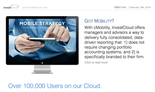 InvestCloud Discusses Corporate Mobile Strategy