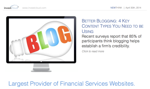 @InvestCloud Shares 4 Key Content Types You Should be Using for Better Blogging
